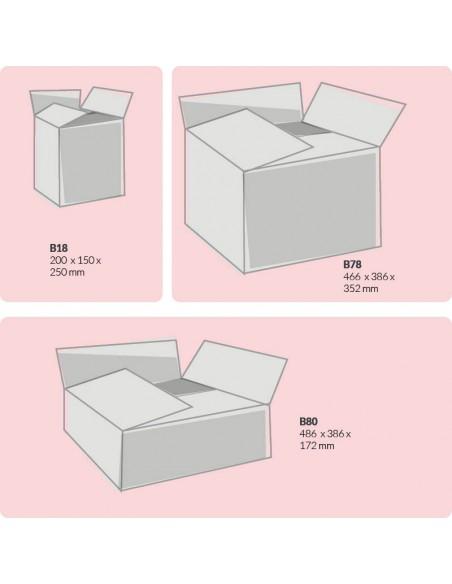 Esempi di dimensioni scatole americane 2 onde Extra Strong