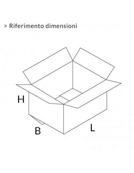 Riferimento dimensioni scatole americane 2 onde Extra Strong