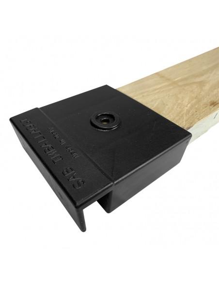 Listelli di rinforzo in legno e testate in plastica