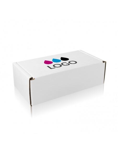 Personalizzazione scatola automontante bianca chiusa