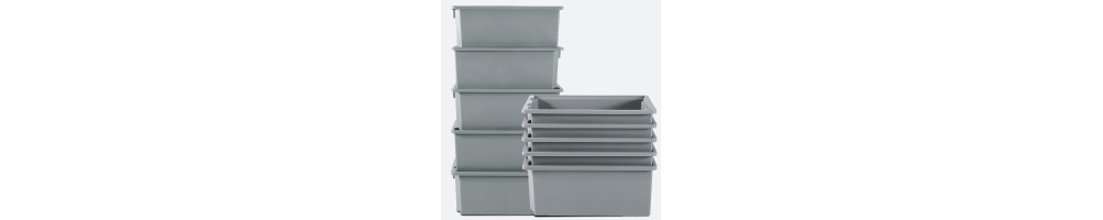 Contenitori in Plastica Industriali - ALFA - DELTA MEC - TAU